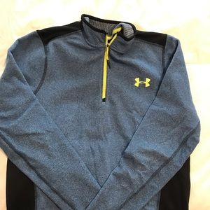Under Armour blue and yellow pullover sweatshirt